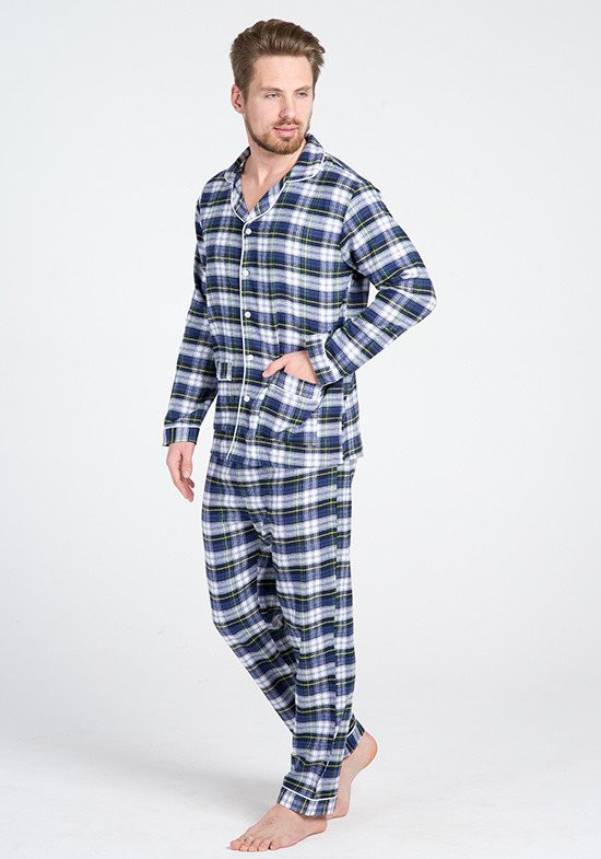 a6f0d3eea9fc0 Классическая мужская фланелевая пижама Классическая мужская фланелевая  пижама ...