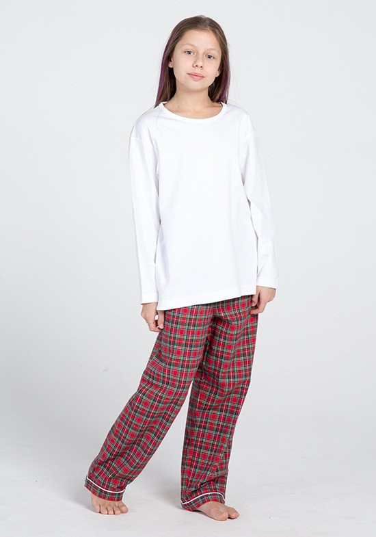 77738ea1e6b8 Фланелевые брюки с трикотажной кофтой для девочек Фланелевые брюки с  трикотажной кофтой для девочек ...